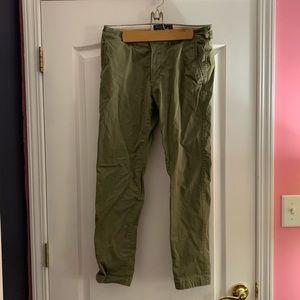 Abercrombie & Fitch men's green khaki pants